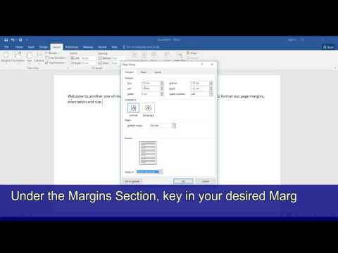 Microsoft Word 2016 Tutorial 13 Change Page Margins, Orientation and Size