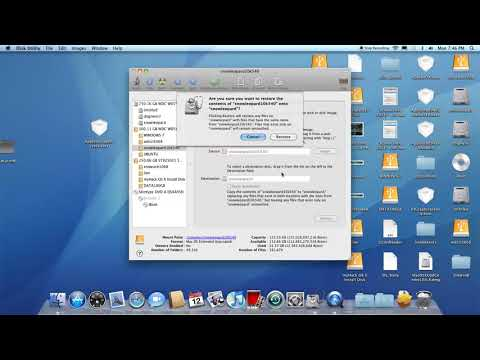 install snow leopard to hard drive by restoration