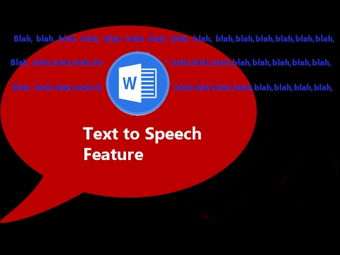 MS Word can Read: Text to Speech Solution