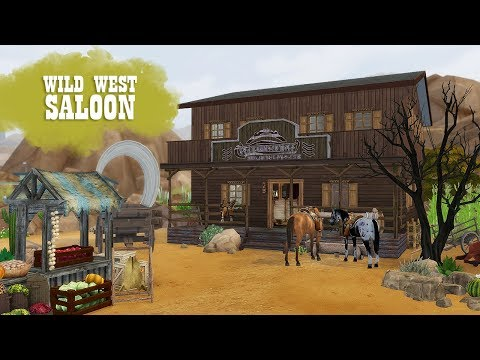 WILD WEST SALOON Sims 4 || Speed Build || Simsbiosis