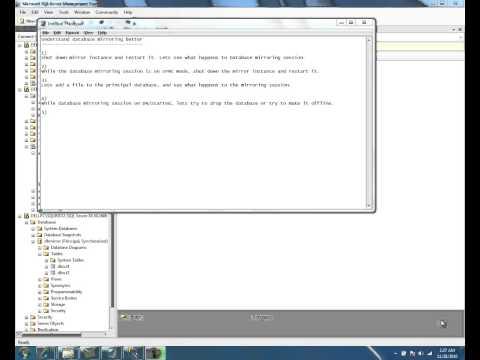 Database Mirroring in SQL Server 2008 R2 - Part 7