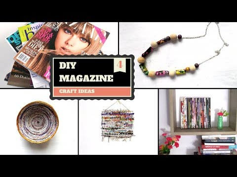 Best out of Waste Magazine Projects & Crafts | DIY Creative Recycled Magazines | by Fluffy Hedgehog