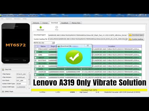Lenovo A319 Dead After Flash/Only Vibrate After Flash Recover Solution
