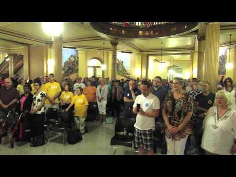 Rally at Kansas Capitol