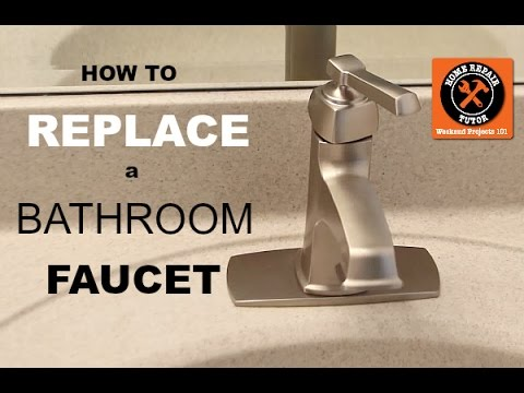 How to Replace a Bathroom Faucet  (Moen Single Handle Faucet Install)