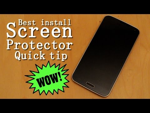 Install a screen protector - Quick Tip
