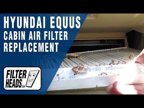 How to Replace Cabin Air Filter 2011 Hyundai Equus