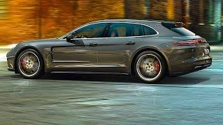 Porsche Panamera Sport Turismo Driving 2018 World Premiere New Porsche Panamera Shooting Brake