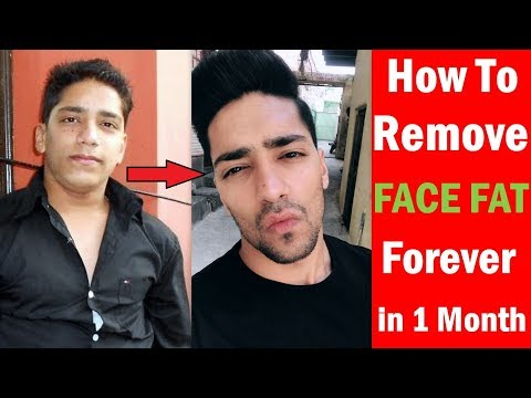 How To Remove FACE FAT Forever In 1 Month - 5 Tips For Attractive Jawline