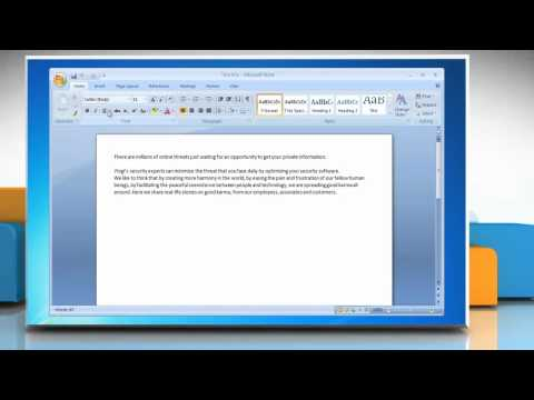 Microsoft® Word 2007: How to change inline picture to floating picture in Windows® 7