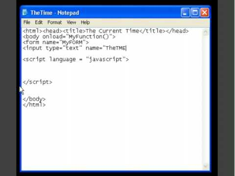 HTML and JavaScript - How to Always Display Current Time - Tutorial - Roylyn Andrews