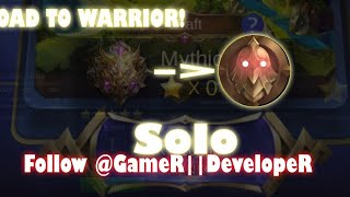 push ranked to warrior lol