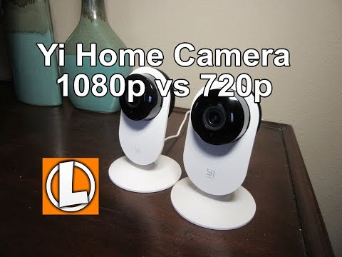 YI 1080p Home Camera Wireless IP US Edition Review - unboxing, setup, video footage, 1080P vs 720p