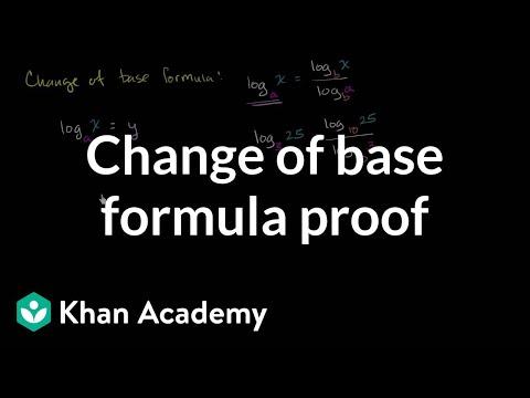 Change of base formula proof | Logarithms | Algebra II | Khan Academy
