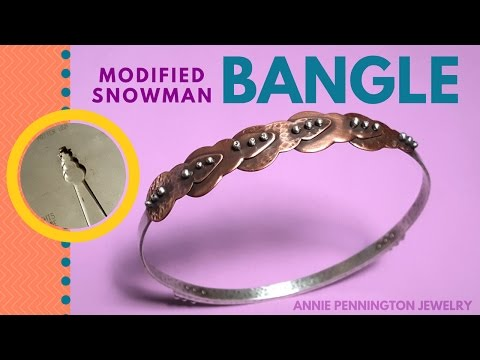 How-to: Modified Snowman-blank Bangle
