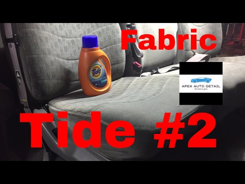 How to detail the Interior or your car or truck with TIDE!!! (Fabric)