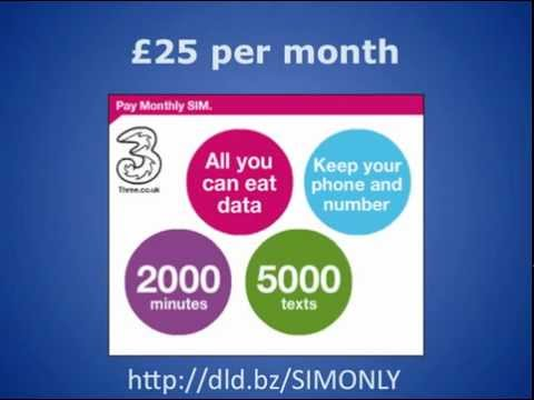 SIM Only Deal From 3 Mobile on Smart Phone Deals