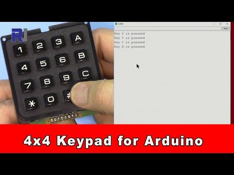 How to use 4x4 matrix keypad with code (hard keys black keypad)