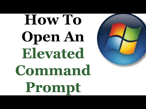 How To Open An Elevated Command Prompt In Windows 7