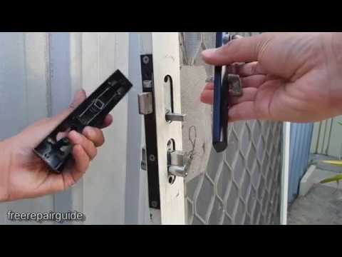 How to Replace / Change Security Door Lock - Without Key