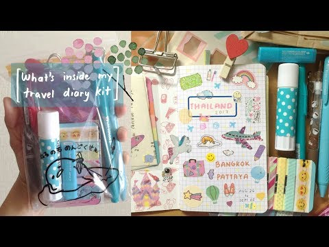 What's Inside My Kawaii Travel Diary Kit | See you soon, THAILAND!! 🇹🇭