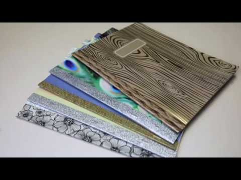 How to Make a DIY Journal Notebook Out of Scrapbook Paper with Thrift Diving