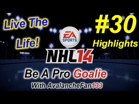 NHL 14 - Be A Pro - Goalie - Episode 30: Game 10 of My 4th Season *Highlights*