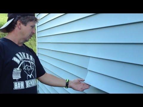 How to fix loose vinyl siding