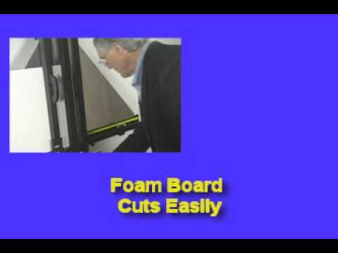 How to Cut Foam Board with the Onyx 90 Media Cutter