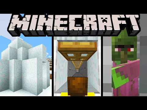 Minecraft 1.9 Snapshot: NEW Igloo Structure, Spooky Secret Trapdoor, Loot, Subtitles, Frost Fixes
