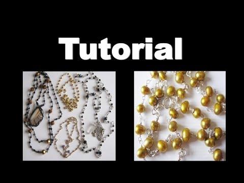Wire Wrap Chain Necklace  TUTORIAL | Liz Kreate