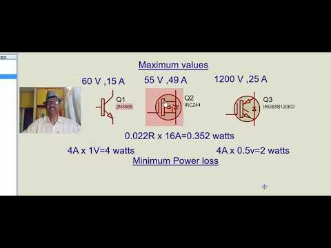 Inverter circuit design part2- Covering selection of power semiconductor