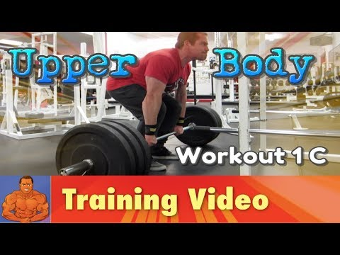 Upper Body Workout - 1C - training the pecs, delts, lats, and abs