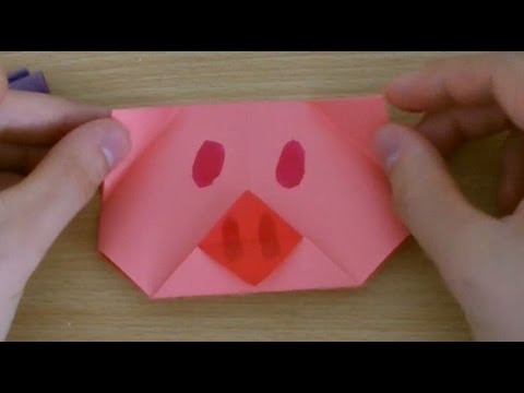 How To Make An Easy Origami Pig Face