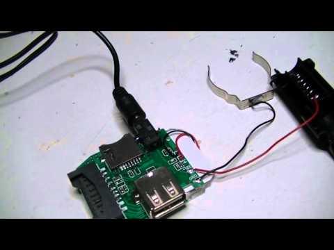 Cheap cigarette lighter socket MP3 SD FM transmitter Repair and Review