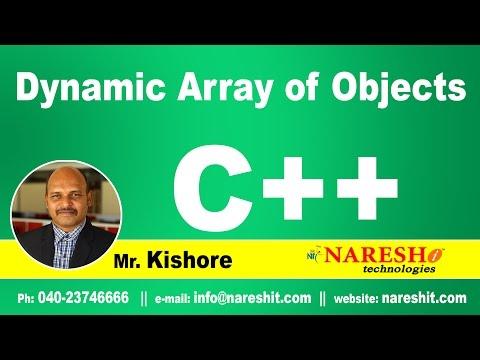 Dynamic Array of Objects in C++   C++ Tutorial   Mr. Kishore