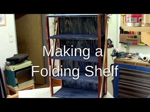 ᐉ How to make a folding shelf