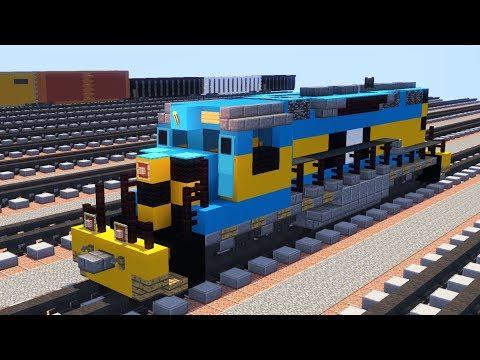 Minecraft Unstoppable AWVR 1206 SD40-2 Train Tutorial