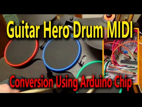 Guitar Hero Drum Midi Conversion Using Arduino Chip