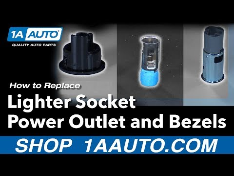 How to Install Replace Lighter Socket Power Outlet and Bezels Dodge Ram BUY AUTO PARTS AT 1AAUTO.COM