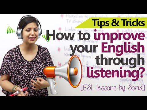 10 ways to improve your English through Listening -  Free Spoken English Lessons