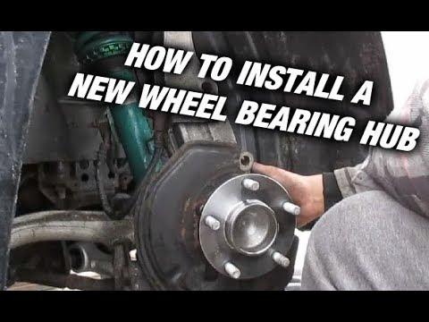Changing Wheel Bearing's On The G35 (350Z, 350GT)