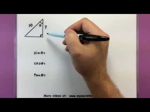 Trigonometry - Find the trig value when one side is missing