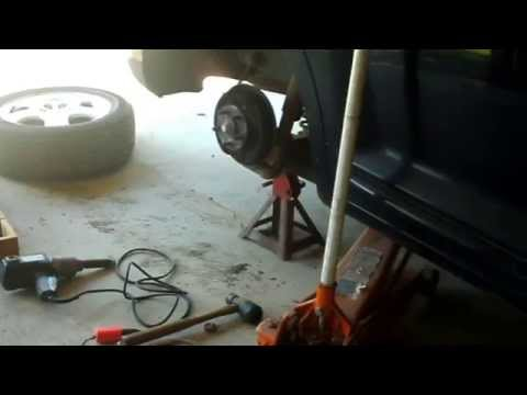 Next time you'll be seeing red, PT Cruiser rear drums, brake grinding noise?