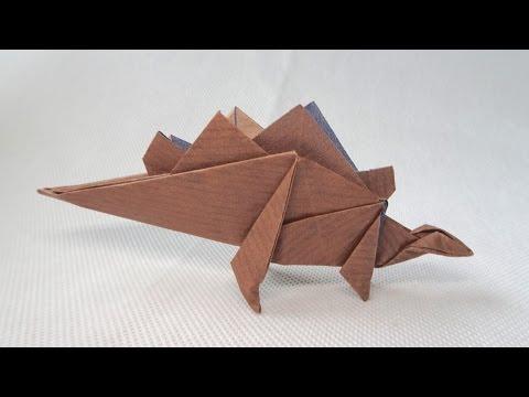 ORIGAMI DINOSAUR STEGOSAURUS | Paper Dinosaur