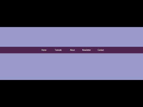 Center align navigation menus