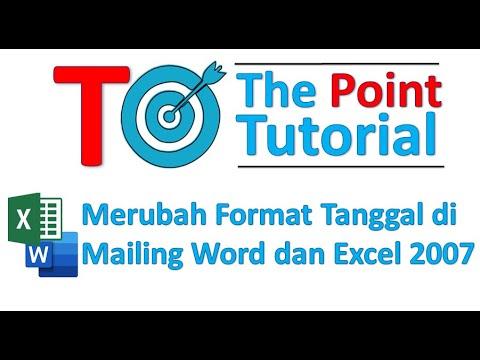 Merubah format tanggal di mailing word dan excel 2007