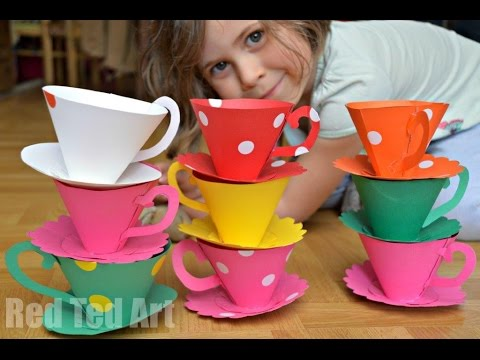 Paper Crafts DIY - Paper Teacups Tutorial