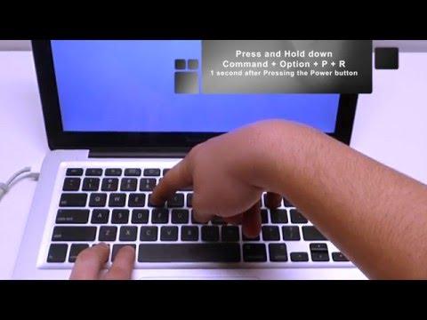 Unibody Macbook NVRAM reset 2008-2016 (fix slow boot)