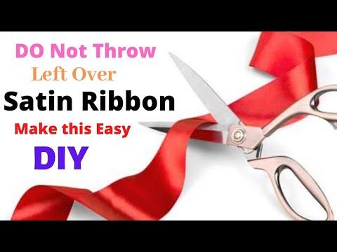 How to make ribbon flower easily